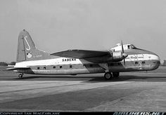 During this period two Super Freighters were painted in Sabena colours to… Cargo Aircraft, Military Aircraft, Congo, Rotterdam, International Airlines, Cargo Airlines, Vintage Airplanes, Commercial Aircraft, Civil Aviation