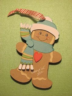 gingerbread man ornament picture frame