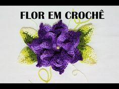 FLOR EM CROCHÊ - YouTube Crochet Art, Thread Crochet, Crochet Motif, Crochet Flower Tutorial, Crochet Flowers, Crotchet Patterns, All Craft, Crochet Videos, Beautiful Crochet