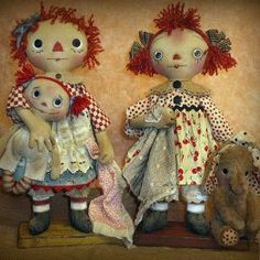 Favorite Things Primitive raggedy Doll Pattern By by RoosterCreek, $11.00