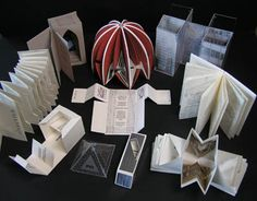 Ten books on Architecture by Helen Malone. 2006. Book sculpture