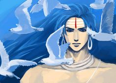 Shiva...with seagulls by mmmmmr.deviantart.com