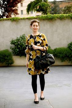 On the Street…Print Dress, Milan « The Sartorialist