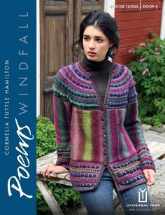 Here is my latest booklet containing eight distinctive designs using the Poems Yarn Collection from Wisdom Yarns. There are new stitch patterns and new ways of using the yarns which will add to your k