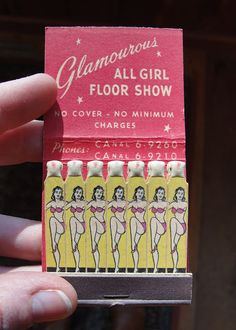 Vintage Match Book Ads