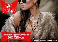 Shop Cat Walk Of Fame Customer Appreciation Sale 20% Off Now!