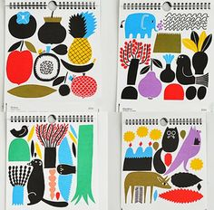 marimekko. Beautiful, bold calendar illustrations