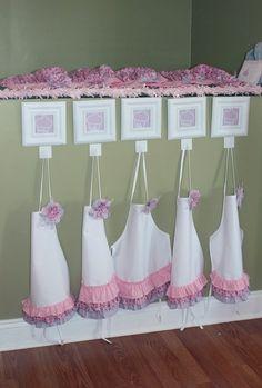 Tiernos delantales para una fiesta de cocina :: Sweet aprons for a cooking party