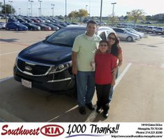 Happy Anniversary to Milagro Gonzalez on your 2013 #Kia #Sportage from Russell Paulov and everyone at Southwest Kia Mesquite! #Anniversary