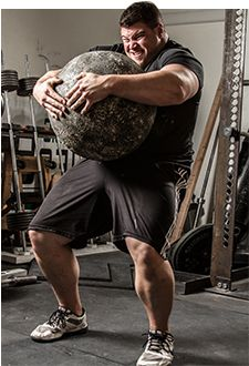 """""""Atlas stones are the pinnacle of strongman. There is no greater test of full-body strength or exercise that's more fun."""" Colton Leonard"""