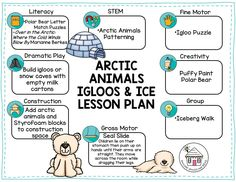Enjoy wintertime favorites - Arctic Animals, Igloos, and Ice - with a free lesson planning guide. Download the free lesson plan and take a look at the Arctic Animals, Igloos, and Ice Activity Pack from Daycare Spaces and Ideas at https://www.daycarespacesandideas.com/home/arctic-animals-igloos-and-ice