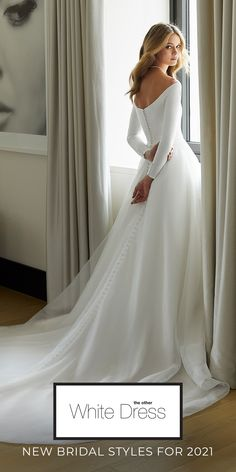 New bridal styles for Fall 2021 | Introducing The Other White Dress Collection. Simple, Stunning, and Designed with Love. Bali Wedding Dress, Wedding Dress Sleeves, Modest Wedding, Bridal Wedding Dresses, Bridal Style, Wedding Bride, Dream Wedding, Modest Dresses, Fall Dresses