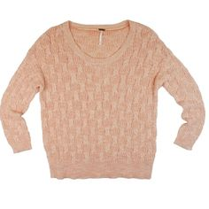 "Free People Peach Cotton Cableknit Scoop Sweater This peach cotton cable knit sweater from free people is in excellent condition. It's an XS but it's an oversized fit so it will fit a larger size. Features a relaxed roomy fit, and a crew scoop neckline. Dolman sleeves. Cotton blend. Measures: Bust: 41"", total length: 25"", sleeves: 19"" Free People Sweaters Crew & Scoop Necks"