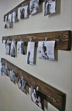 ♡♡♡ Porta fotos de madera