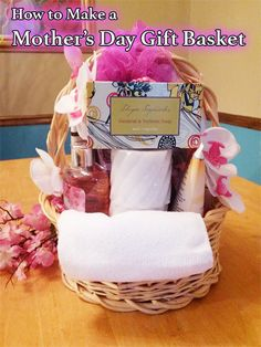 Learn How To Make A Mother S Day Spa Gift Basket With Tracey Diy Craft Teacher