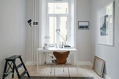 White & Leather Home Office Ideas Home Office Inspiration, Workspace Inspiration, Interior Inspiration, Office Ideas, Design Moderne, Deco Design, Interior Work, Interior And Exterior, Home Office Design