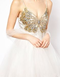 Enlarge Forever Unique Prom Dress With Butterfly Embelishment