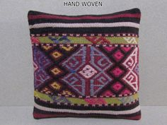 HAND WOVEN decorative pillow bed aztec by DECOLICKILIMPILLOWS