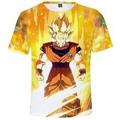 6b83895c2 YUANOU Verano Dragon Ball Camiseta Niño Niña Camisetas Cuello Redondo 3D  Impresión Moda Unisex Top