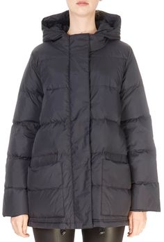 Black High Collar Puffer Coat | Jessimara Down Puffer Coat, Down Coat, Winter Coats Women, Winter Jackets, Green Parka, Black Down, High Collar, Eileen Fisher, Shop Now