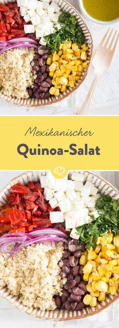Von wegen Enchiladas und Tortillas - gegrillter Mais und geröstete Paprika hauchen dem Superfood Quinoa mächtig Lebensfreude ein. Viva la mexiko!