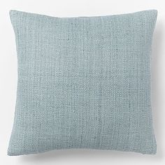 """Solid Silk Hand-Loomed Pillow Cover - Light Pool 20"""" - $44 (less 20% is $35.20) - maybe two for bed?"""