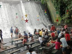 Amazing Villa Escudero Philippines Dazzling For Traveling: Awesome Villa Escudero Philippines Restaurant With Amazing Waterfall And Modern Decorative For Exotic Travel Destination