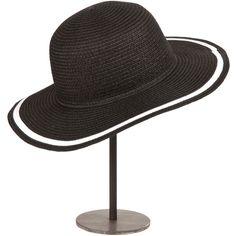 Zara Home White Stripe Floppy Hat ($18).