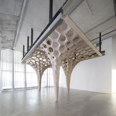 La Voûte de LeFevre by Matter Design  Experiment on digital fabrication and parametric design.