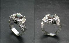 Regine Juhls, Tundra serie, silver and gemstones ring