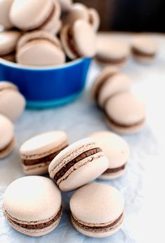 These delicate and delicious french macarons have a brownie batter buttercream filling and are made using the Italian Meringue method.
