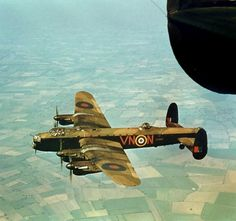 Avro Lancaster 1942, the pattern that the fields make.