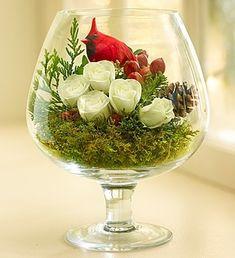 Winter Songbird #Christmas #Flowers