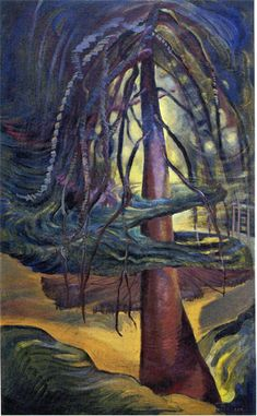 As a contemporary of Canada`s Group of Seven, Emily Carr drew inspiration to create her own series of vivid landscape paintings. Tom Thomson, Canadian Painters, Canadian Artists, Landscape Art, Landscape Paintings, Landscapes, Tree Paintings, Canvas Paintings, Emily Carr Paintings