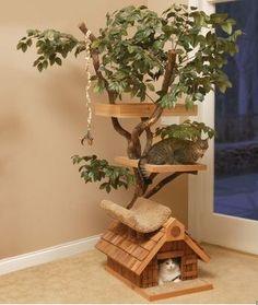 Un árbol con plataformas para tus gatitos