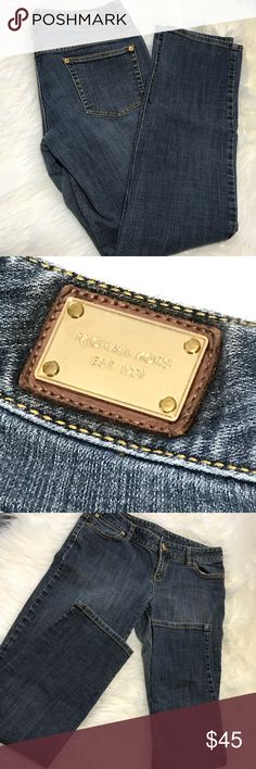 "Michael Kors Boot Cut Jeans Size 10 Michael Kors blue jeans in a size 10. They are in great condition with no rips, stains, or snags. Zipper and button work well. Measurements are approximately while lying flat: 17"" waist, 30"" inseam. Feel free to ask any questions! Michael Kors Jeans Boot Cut"