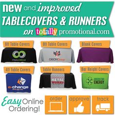 You have endless options when it comes to our tablecovers and runners...& easily customizable!