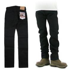 IRON HEART アイアンハート 555XHSbb 25oz ブラック x ブラック セルビッジデニム スーパースリムストレート 555XHSbb -JOE- Black Jeans, Sweatpants, Fashion, Moda, Fashion Styles, Black Denim Jeans, Fashion Illustrations
