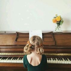 Piano, kids, children