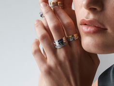 Explore the story behind the iconic FUSION collection. Personalized jewellery in rose, yellow and white gold. Meet the Scandinavian designer Nina Koppel. Gold And Silver Rings, Silver Jewelry, Love Knot Ring, Magic Ring, Oxidized Sterling Silver, Personalized Jewelry, Black Diamond, Jewelry Collection, Amethyst