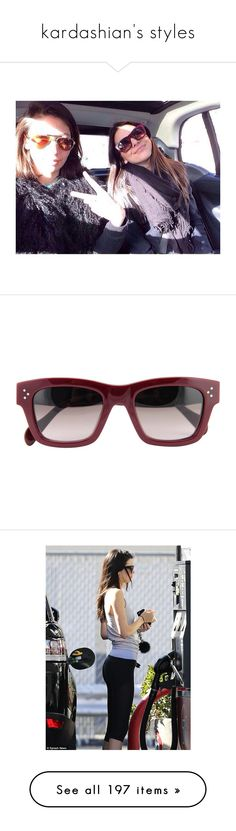 """""""kardashian's styles"""" by onedirectionnhllz ❤ liked on Polyvore featuring accessories, eyewear, sunglasses, glasses, celine, red, celine sunglasses, celine eyewear, acetate glasses and celine glasses"""