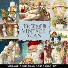 Far Far Hill: Freebies Vintage Xmas Post Cards