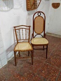 Nico, el artesano de mimbre, anea, rejilla, cuerda y caña:  Unos asientos de rejilla clásica
