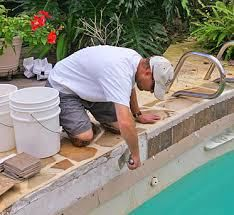 You need to do pool renovation once in a while. Pool renovation is done to improve the aesthetics and also make the pool efficient. For pool renovation, you need to make sure that you look for a go… Swimming Pool Repair, Building A Swimming Pool, Swimming Pool Tiles, Pool Decks, Pool Backyard, Backyard Ideas, Patio, Painted Pool Deck, Houses
