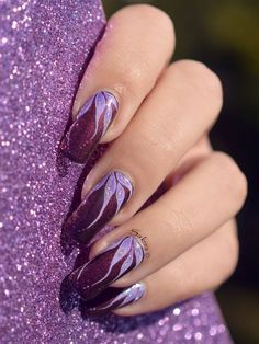 New nails acrylic purple polish 39 Ideas & Neue Nägel Acryl lila Polnisch 39 Ideen & The post Neue Nägel Acryl lila polnisch 39 Ideen & & ALLES appeared first on Powder dip nails . Fancy Nails, Cute Nails, Sakura Nail Art, Hair And Nails, My Nails, Purple Nail Art, Purple Manicure, Purple Makeup, Flower Nail Art