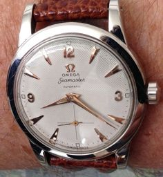 Vintage Watches Collection : Vintage OMEGA Seamaster Automatic With Sub-Seconds Circa - Watches Topia - Watches: Best Lists, Trends & the Latest Styles Old Watches, Vintage Watches For Men, Luxury Watches For Men, Omega Railmaster, Omega Constellation Chronometer, Omega Seamaster Automatic, Mens Toys, Skeleton Watches, Hand Watch