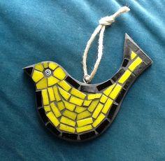 Retro glass mosaic bird with millefiore bead eye on Etsy, £20.00