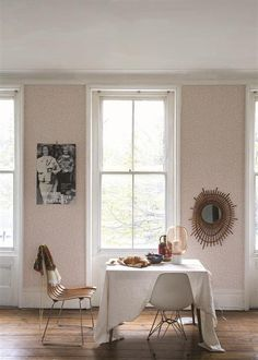 An inspirational image from Farrow and Ball Morris Wallpapers, Blue Wallpapers, Farrow Ball, Interior Styling, Interior Decorating, Interior Design, Interior Paint, Decorating Ideas, Neutral Wallpaper