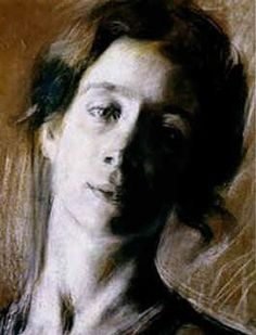 Portrait of Elise, by Giacomo Balla Italian Painters, Italian Artist, Gino Severini, Umberto Boccioni, Giacomo Balla, Futurism Art, Pastel Portraits, Art Series, Life Drawing