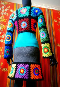 Granny Square Bolero And Granny Square Skirt